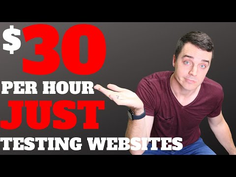 How to Make $30/hr to JUST TEST and REVIEW WEBSITES (UserTesting)   How to Make Money Online