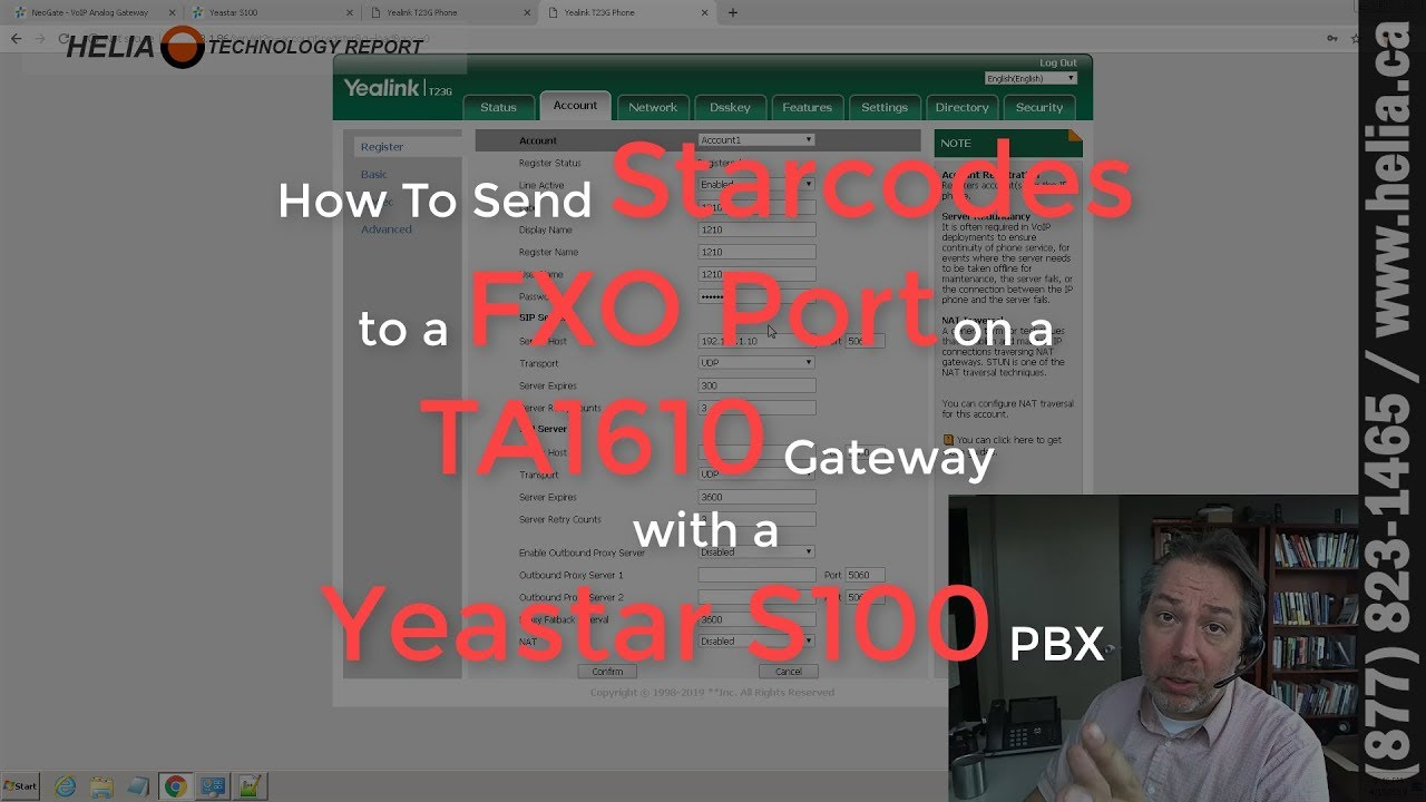 How To Send Starcodes to a FXO Port on a TA1610 Gateway with a Yeastar S100