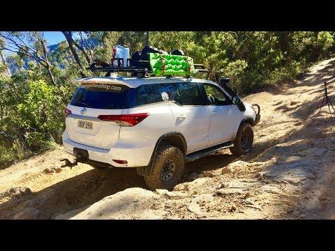 Gap Road 4x4 , Freemans Waterhole NSW. New Toyota Fortuner Offroad.