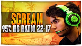 CS:GO - ScreaM 95% HS Ratio vs EnVyUS [POV] | ScreaM The Headshot King