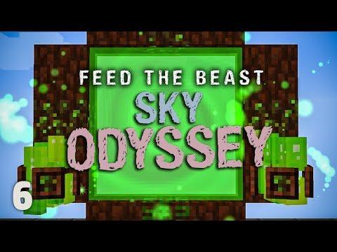 FTB Sky Odyssey Ep. 6 Elven Portal + Best Early Flight