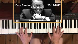 Hommage to Fats Domino, who died 25.10.2017.  Elegic version of Blueberry Hill