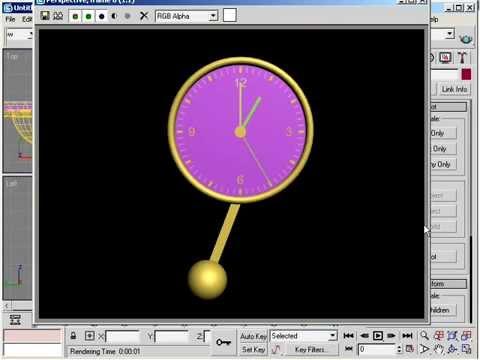 Video học 3D MAX  Bài 2 - Vẻ đồng hồ quả lắc