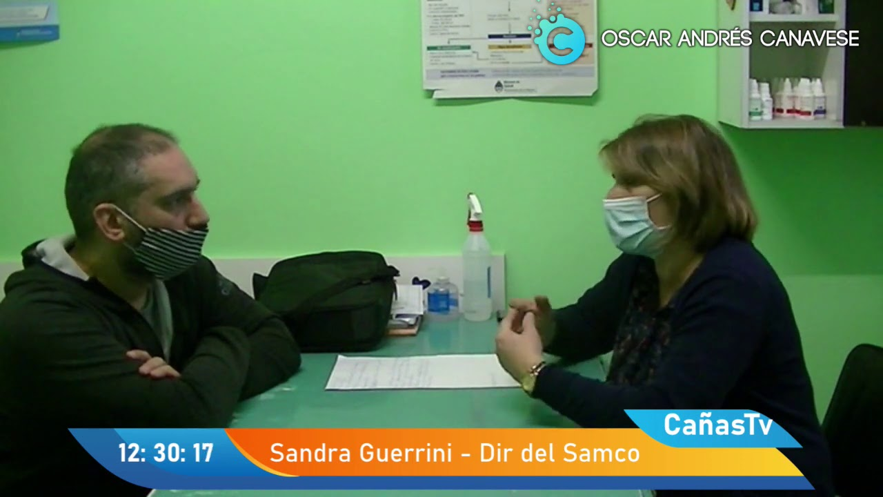 La Directora del Samco de Villa Cañás, Lic. Sandra Guerrini.