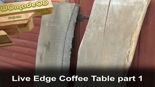 Live Edge Coffee Tables - Initial Preparation