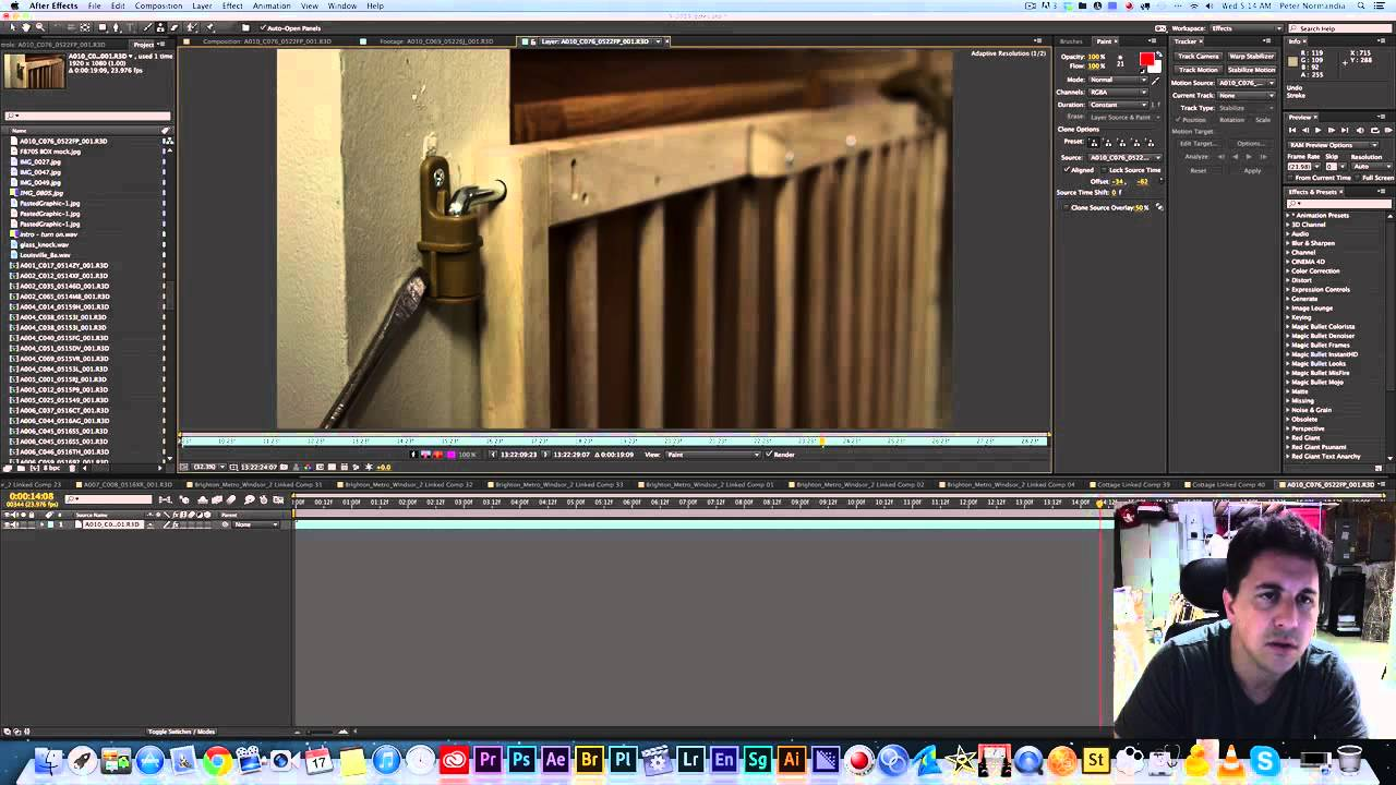 Premiere Pro CC - How to Remove Blemishes on Static Shots