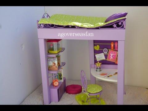 American Girl Mckenna S Loft Bed Diy Youtube