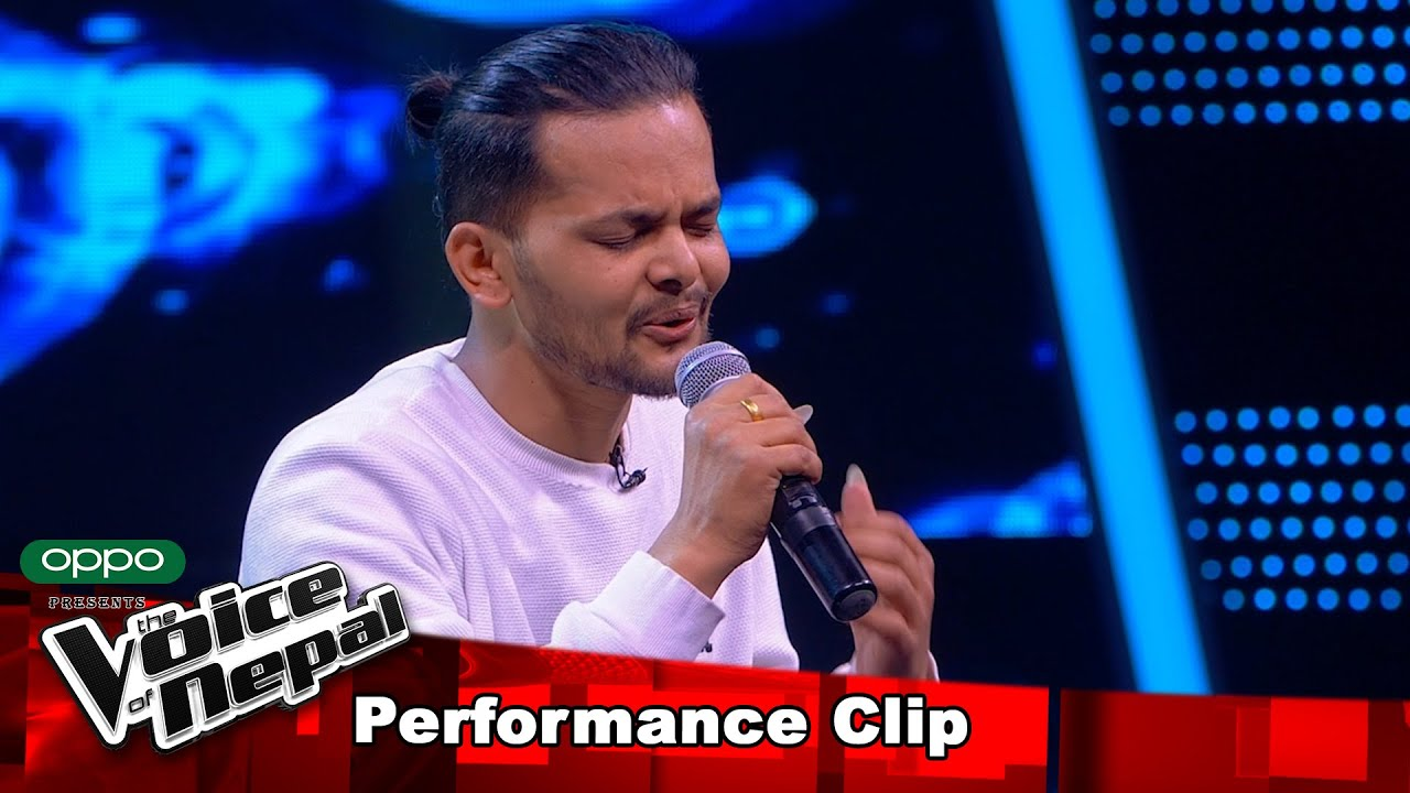 "Bijay Bhandari ""Pardeshi Nabhana""| Blind Audition Performance | The Voice of Nepal S3"
