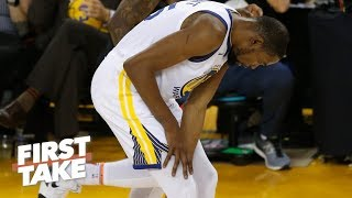 Injuries will be a legitimate excuse if the Warriors lose to the Raptors - Stephen A. | First Take