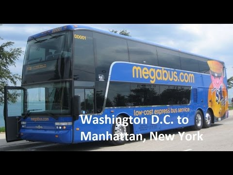 Megabus from Washington D.C. to Manhattan, New York