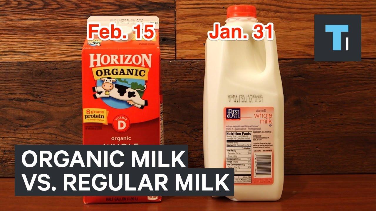 Why Organic Milk Lasts Longer Than Regular Milk Youtube