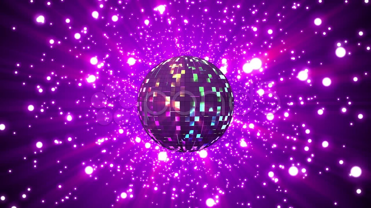 Disco ball on star background stock footage youtube for 1234 get on the dance floor video download