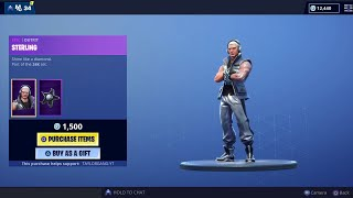 Fortnite Item Shop *New* STERLING Skin! SILVER SLEDGE!! INFERNAL Wrap! (May 1)
