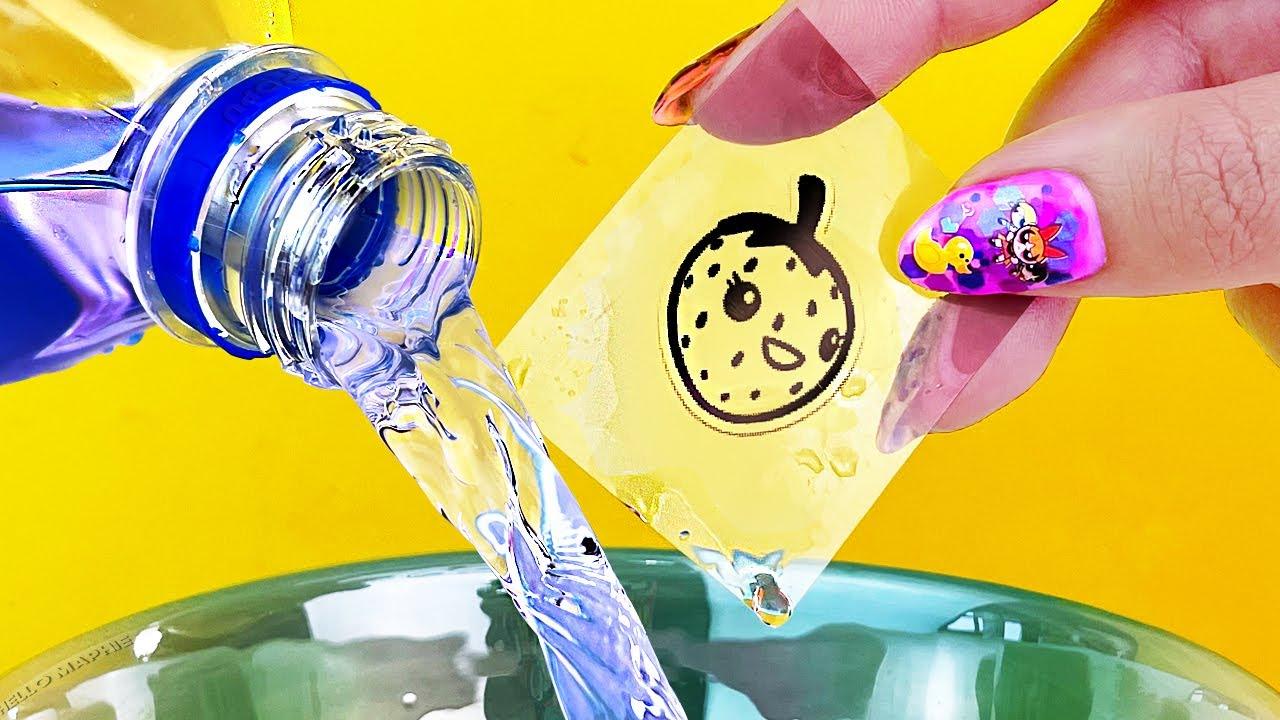 El TRUCO de las Stickers INVISIBLES con Agua! #Shorts