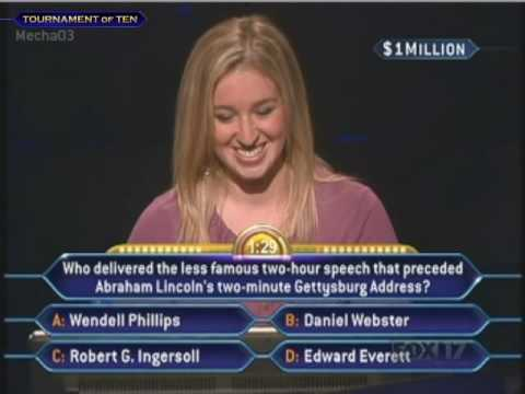 Robin Schwartz's Million Dollar Question - Who Wants to be a Millionaire [Old Format]
