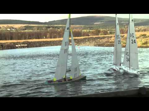 RC Modell Yachts 1m classcompeting inRoundwood IRL