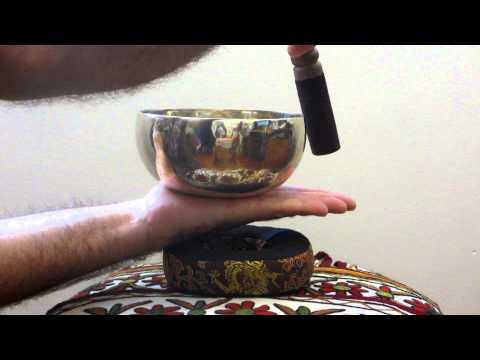 Tibetan Singing Bowl - 14.5cm Demonstration