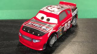 Mattel Disney Cars 3 T.G Castlenut #48 Revolting Stock Car (Race To Win 4 Pack) Die-cast Review
