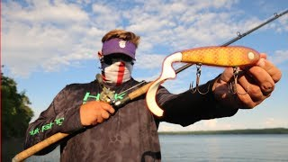 Using GIANT baits for GIANT fish (MUSKIE FISHING)