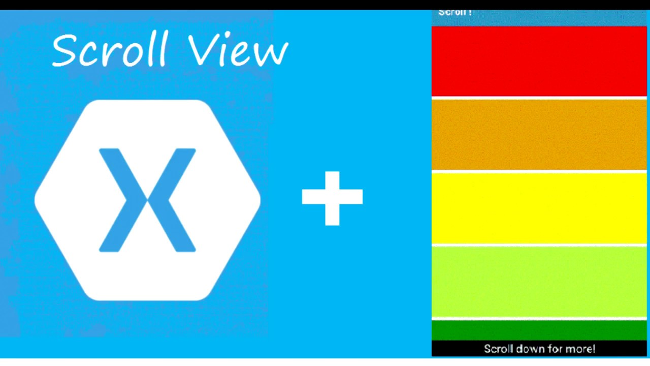 How to Scroll View In Xamari Forms Tutorial 1