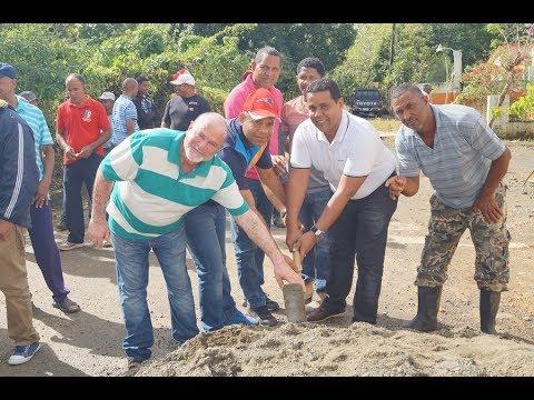 Ayuntamiento de Castillo inicia construcción aceras y contenes en Sector La Mora