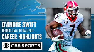 D'Andre Swift: Georgia Career Highlights from the Detroit Lions' 2nd round pick | SEC on CBS