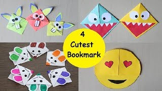 DIY - 4 Easy and Cutest Bookmark For Kids | Easy Paper Bookmark Making
