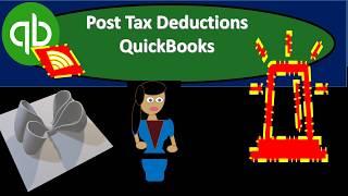 QuickBooks Online 2019-PostTax Deductions QuickBooks