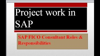 SAP Project & Roles and Responsibilities