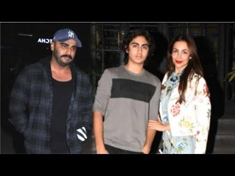 Arjun Kapoor With GF Malaika Arora & Her Son Arhaan Khan At Amrita Arora's Birthday Party