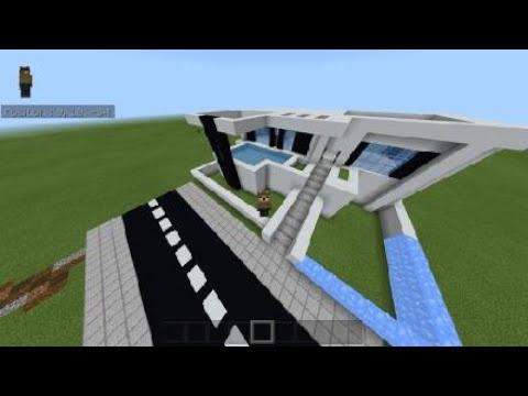 Tuto Minecraft Maison Moderne 2 Youtube