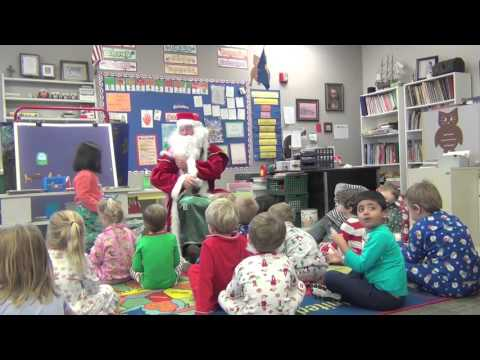 OAK HALL EPISCOPAL SCHOOL. EC-4 STUDENTS 2015 CHRISTMAS PARTY WITH SANTA CLAUS