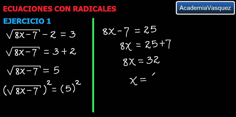 Ecuaciones Con Radicales Ejercicio 1 Youtube