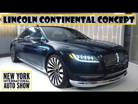 lincoln continental concept live at 2015 new york auto. Black Bedroom Furniture Sets. Home Design Ideas