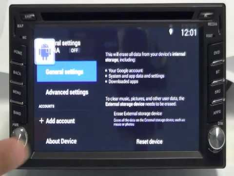 Ownice C200 Quad Core Android 4 4 2 Car DVD Factory reset
