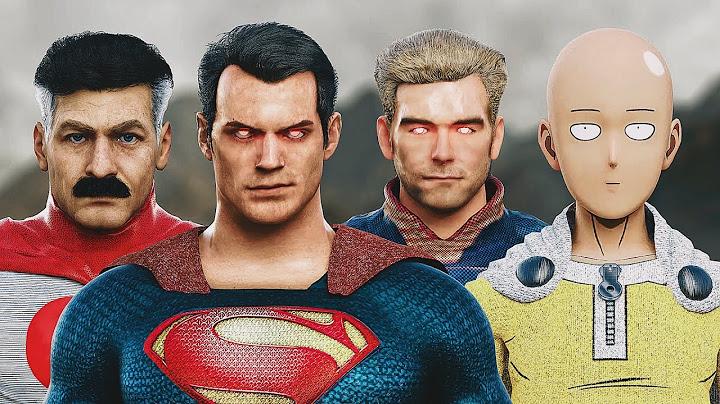 superman vs saitama vs homelander vs omniman  epic battle