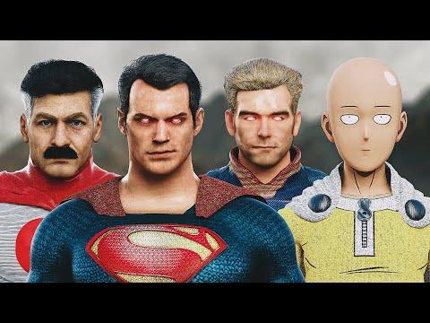 SUPERMAN vs. SAITAMA vs. HOMELANDER vs. OMNI-MAN   EPIC BATTLE!