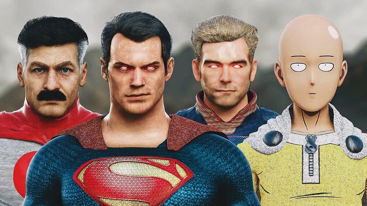 SUPERMAN vs. SAITAMA vs. HOMELANDER vs. OMNI-MAN | EPIC BATTLE!
