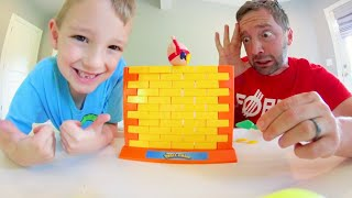 Father amp Son PLAY HUMPTY DUMPTY WALL GAME  Don39t Let Him Fall