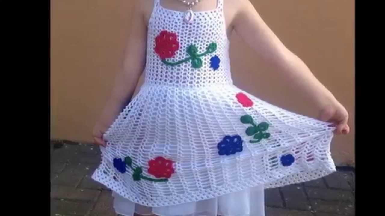 Fantástico Patrones Libres Vestido De Crochet Para Niños Pequeños ...
