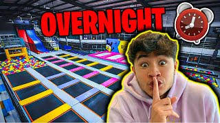 24 HOUR OVERNIGHT CHALLENGE IN TOP SECRET TRAMPOLINE PARK