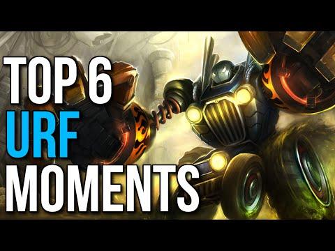 Top 6 Best URF Moments 2015 (League of Legends)