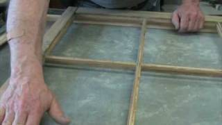How to disasemble an antique window sash