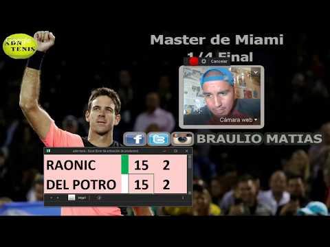 Del Potro vs Raonic / Relato en vivo / Miami 2018