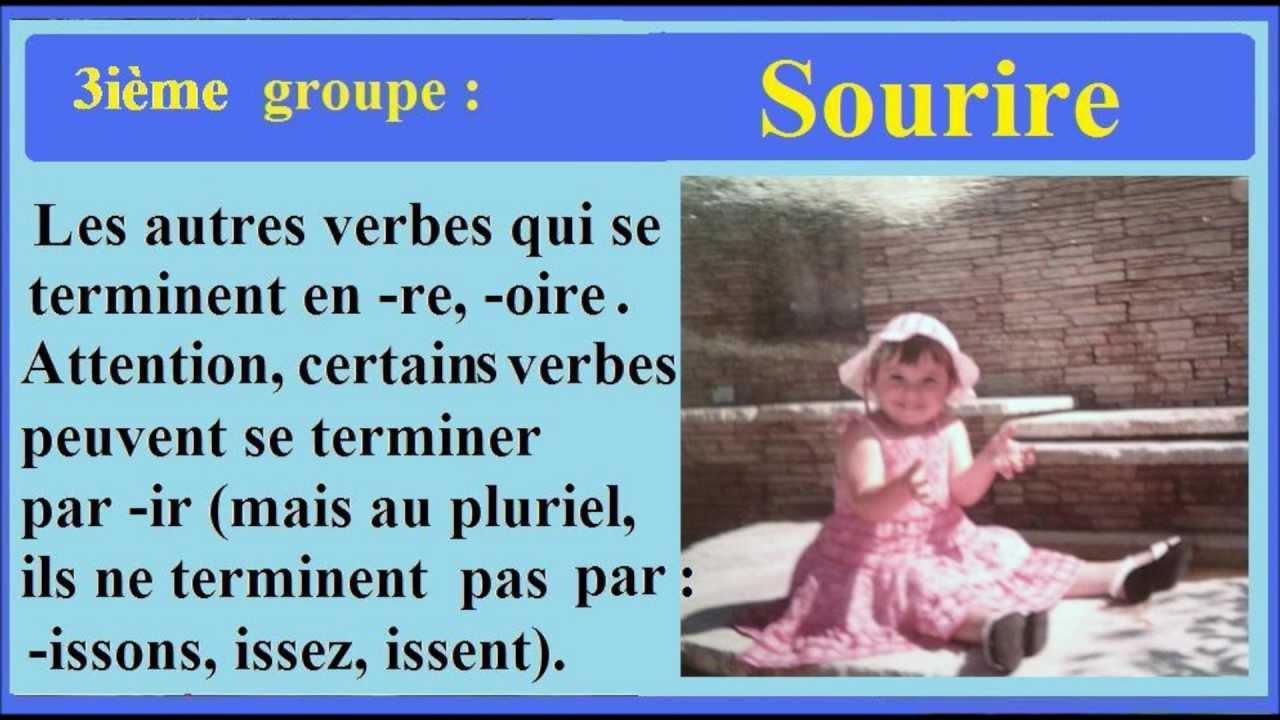 Cours De Conjugaison Francaise Ce2 4 10 Les Trois Groupes Des Verbes En Francais Youtube