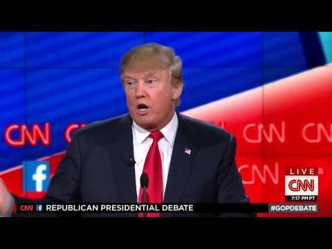 PRESIDENT Donald Trump owns Jeb Bush at GOP Debate