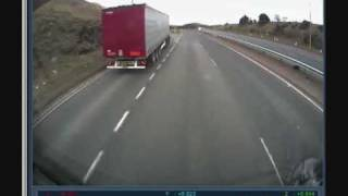 LORRY CRASH A90 ABERDEEN LIVE ON BOARD TRUCK CAM
