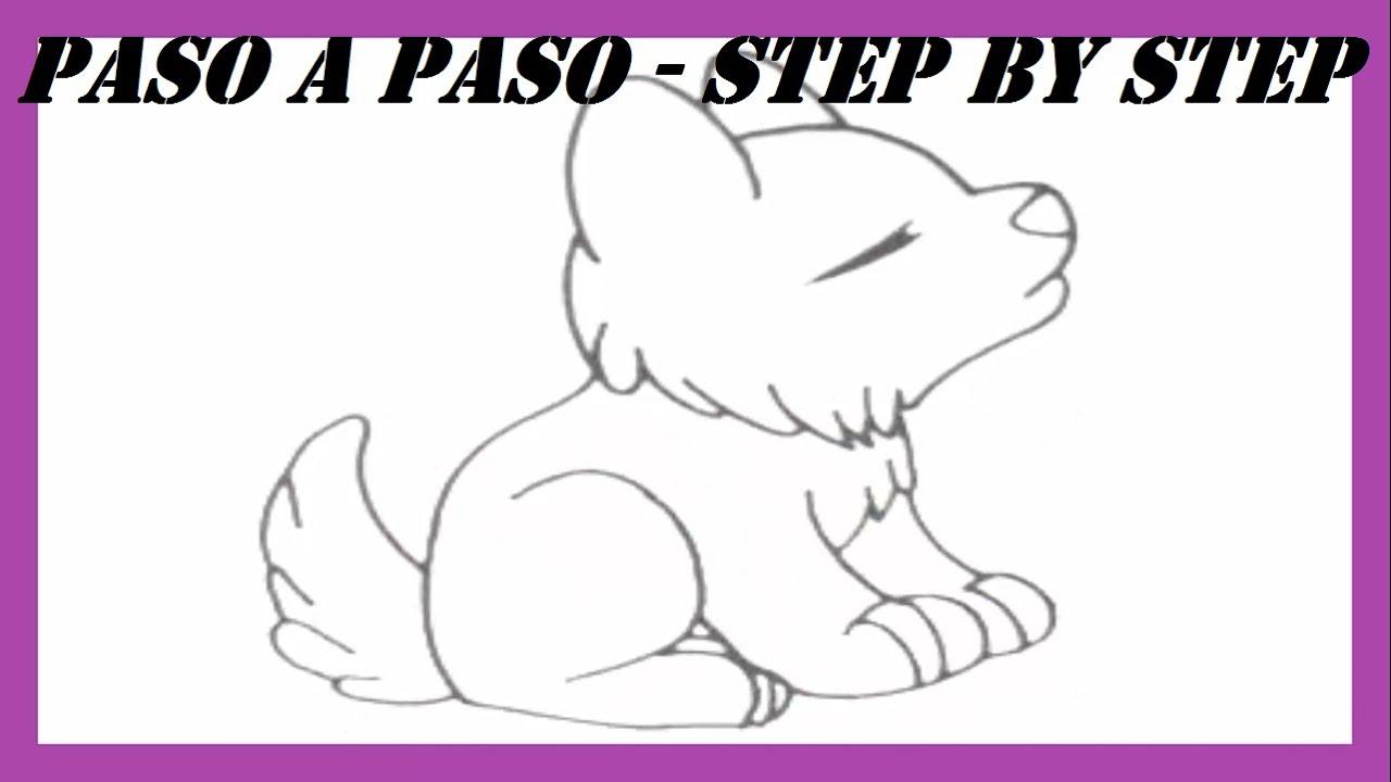 Como dibujar un Lobo Aullando l How to Draw a Wolf Howling l Dibujos ...