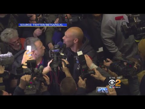 Ball Family Serenaded, Swarmed By Media As They Arrive In Lithuania