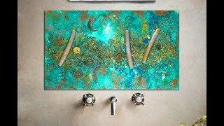 Art Tiles Resin Steampunk Studio S999 Splashback Handmade Home Decor Wall Art #s999art